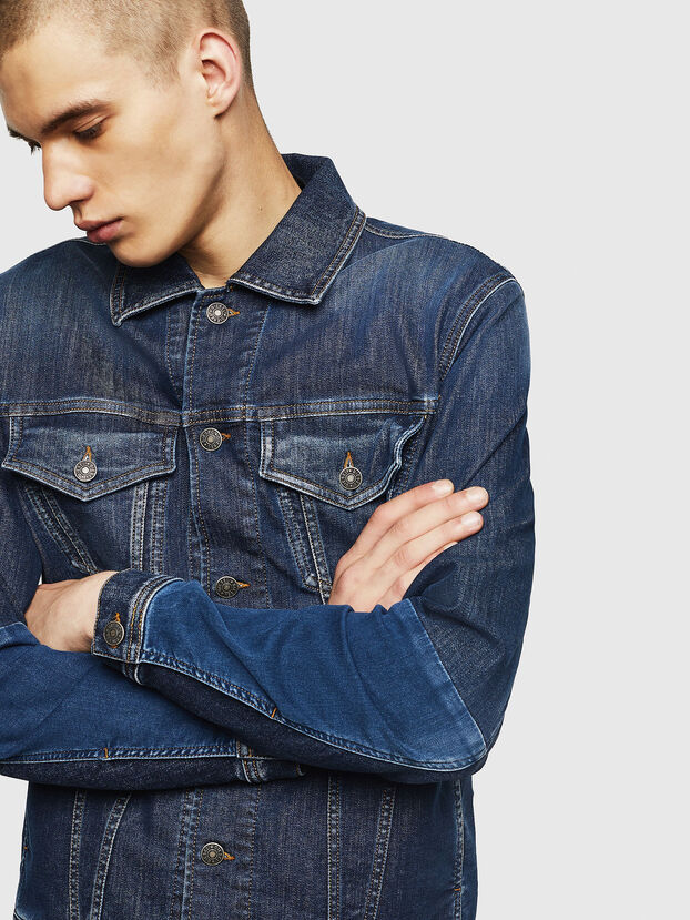 D-NHILL-SP JOGGJEANS, Medium blue - Denim Jackets