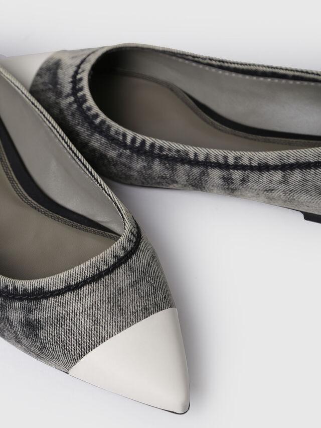 Diesel - D-FOVETTE II, Grey Jeans - Flats - Image 4