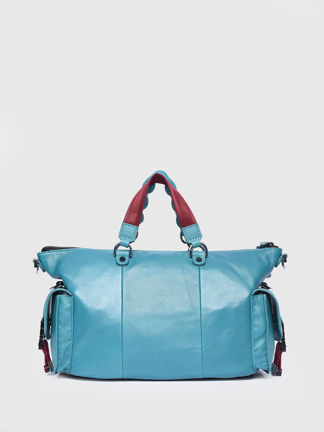 Diesel - MISS-MATCH SATCHEL M, Azure - Satchels and Handbags - Image 2