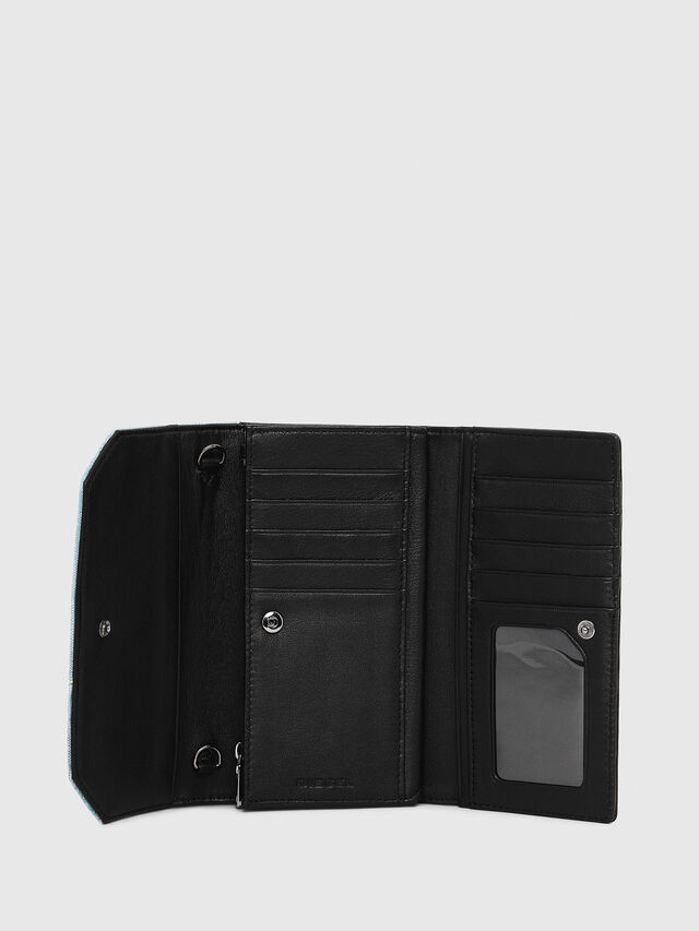 Diesel - GIPSI, Black/Blue - Small Wallets - Image 4