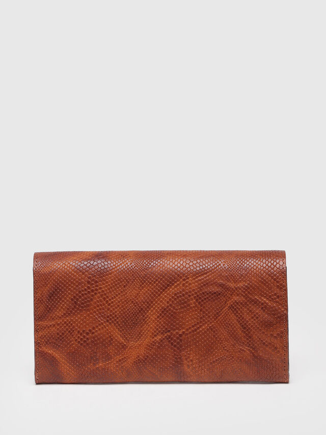 Diesel - 24 A DAY, Brown Leather - Continental Wallets - Image 2