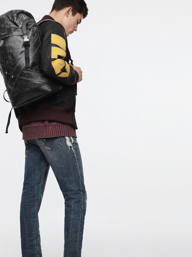Diesel - L-BLAID RANNER BACK, Black Leather - Backpacks - Image 4