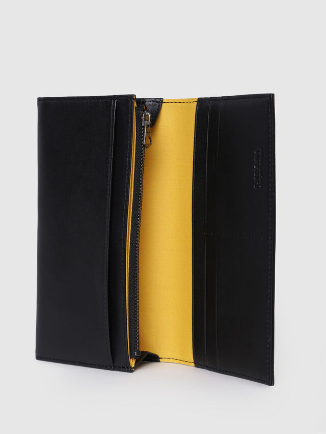 Diesel - 24 A DAY P, Black/Yellow - Continental Wallets - Image 3
