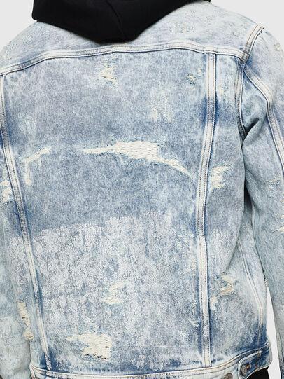 Diesel - NHILL, Light Blue - Denim Jackets - Image 3