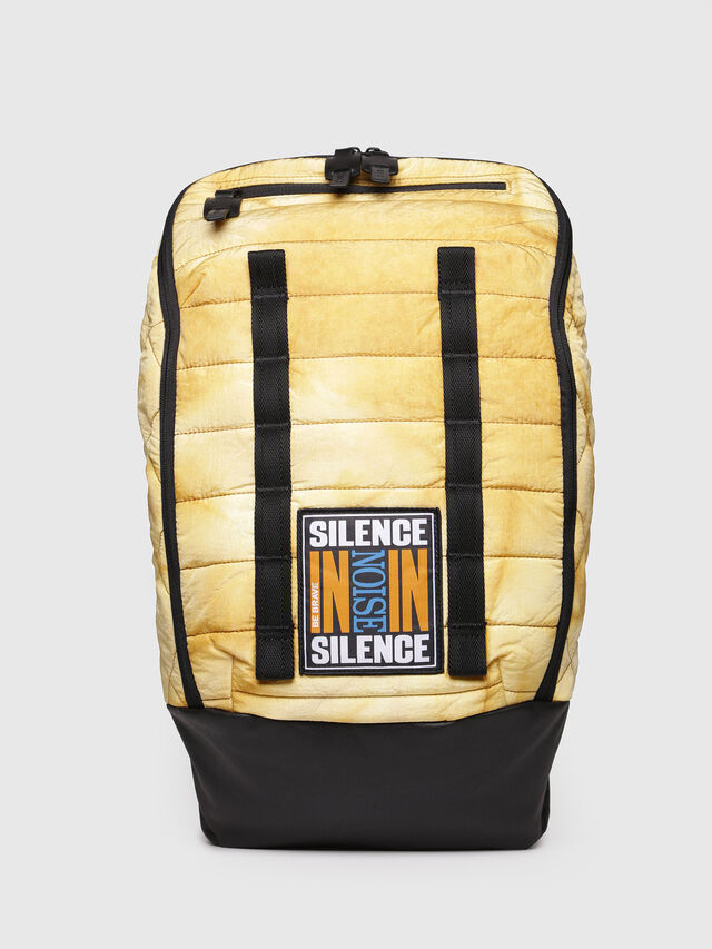 Diesel - F-HEYODA BACK, Yellow - Backpacks - Image 1