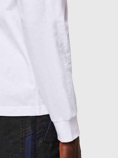 Diesel - T-JUST-LS-A30, White - T-Shirts - Image 4