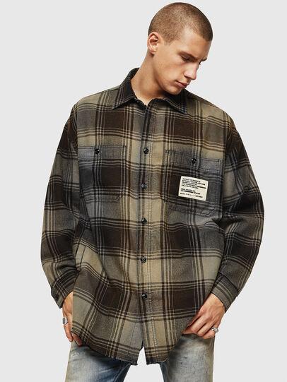 Diesel - S-MINER, Brown - Shirts - Image 1