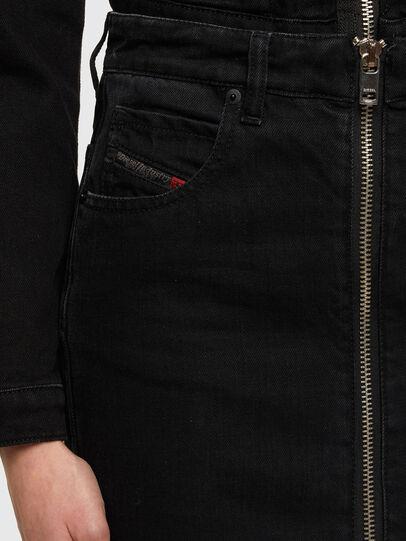 Diesel - DE-PENCIL-ZIP, Black - Skirts - Image 4