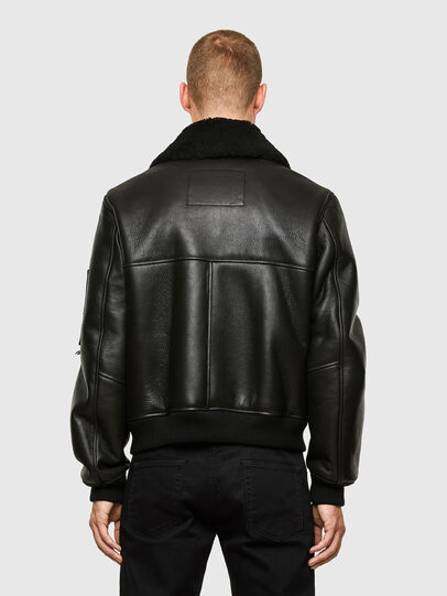 Diesel - L-ARNOLD, Black - Leather jackets - Image 2