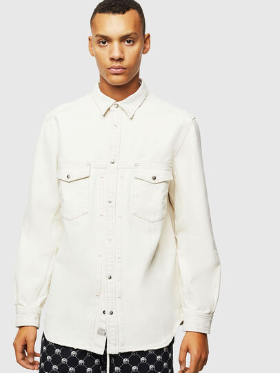 Diesel - D-BANDY-B, White - Denim Shirts - Image 1