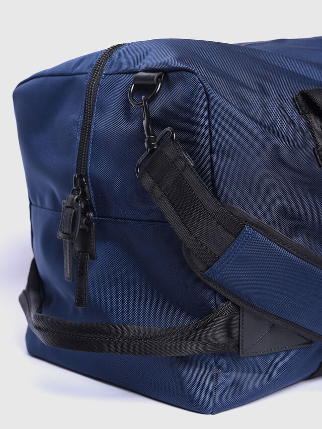Diesel - M-CAGE DUFFLE M, Blue/Orange - Travel Bags - Image 3