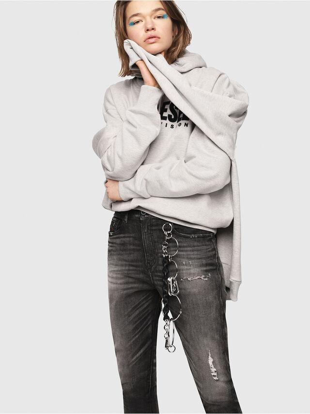 Diesel - Candys JoggJeans 0077S, Black/Dark grey - Jeans - Image 3