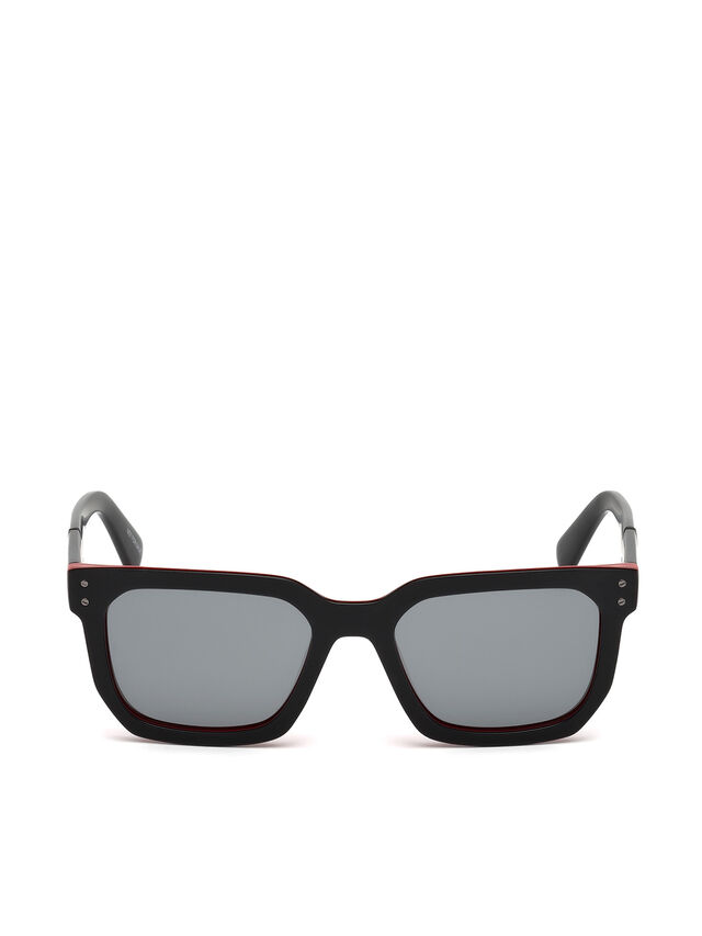 Diesel - DL0253, Black/Red - Eyewear - Image 1