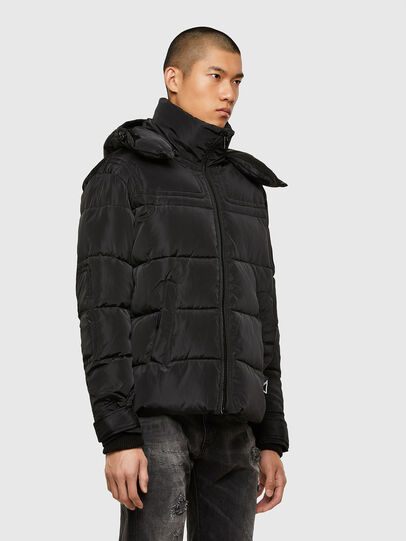 Diesel - W-RUSSELL-WH, Black - Winter Jackets - Image 7
