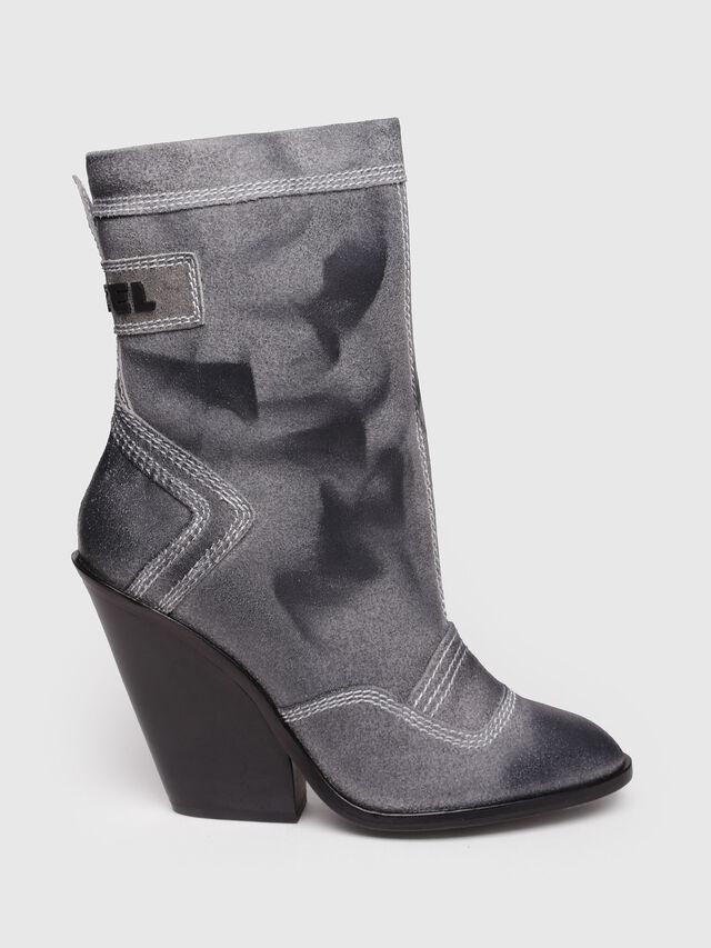 Diesel - D-FLAMINGO B, Grey Melange - Ankle Boots - Image 1
