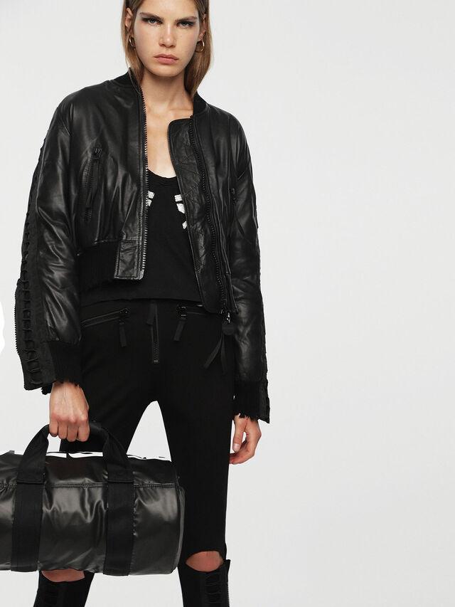 Diesel - F-BOLD DUFFLE FL, Bright Black - Travel Bags - Image 5