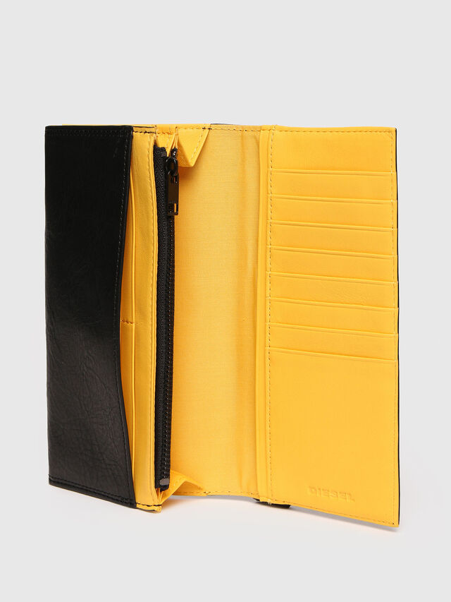 Diesel - 24 A DAY, Black/Yellow - Continental Wallets - Image 3