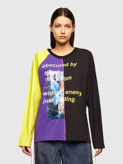 Diesel - T-KIM, Violet/Black - T-Shirts - Image 1