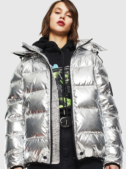 Diesel - W-SMITH-SILVER, Silver - Winter Jackets - Image 2