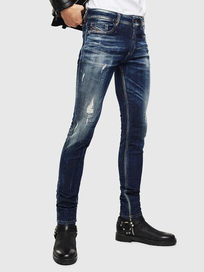 Diesel - Sleenker 0097L, Dark Blue - Jeans - Image 1