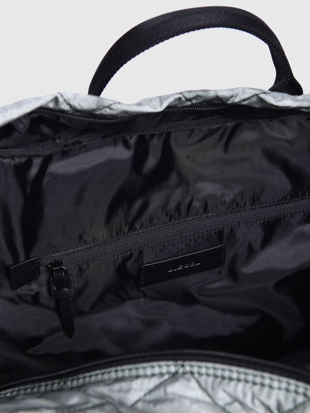 Diesel - F-HEYODA DUFFLE, Silver - Travel Bags - Image 3