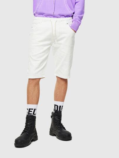 Diesel - D-KROOSHORT JOGGJEANS, White - Shorts - Image 1