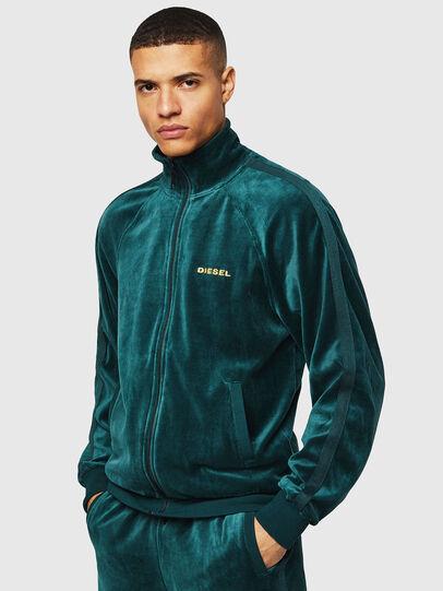 Diesel - UMLT-MAX-CZ, Dark Green - Sweaters - Image 1