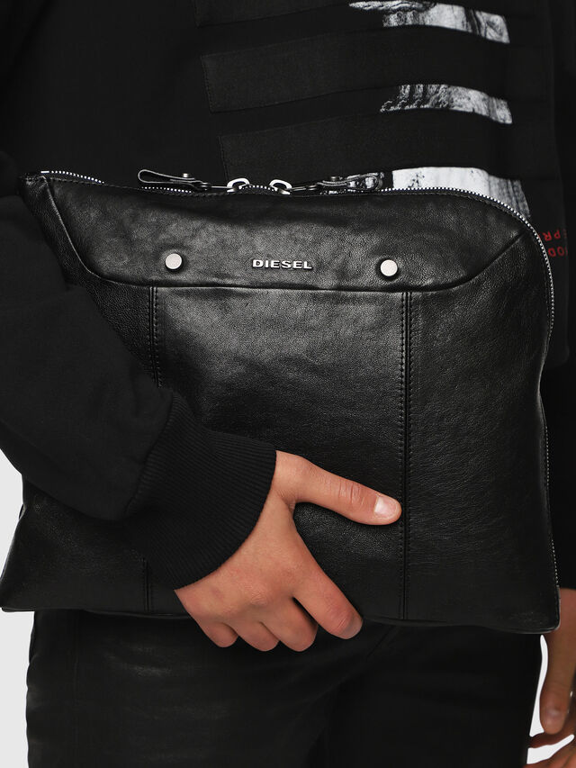 Diesel - L-L4CLUTCH, Black Leather - Clutches - Image 6