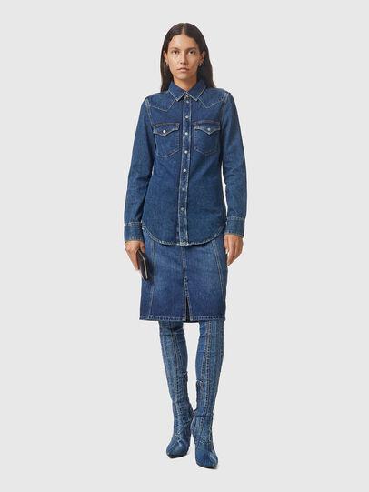 Diesel - DE-RINGY, Dark Blue - Denim Shirts - Image 5