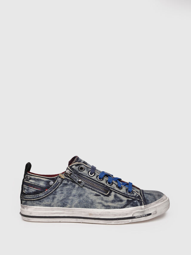 Diesel - EXPO-ZIP LOW W, Blue Jeans - Sneakers - Image 1