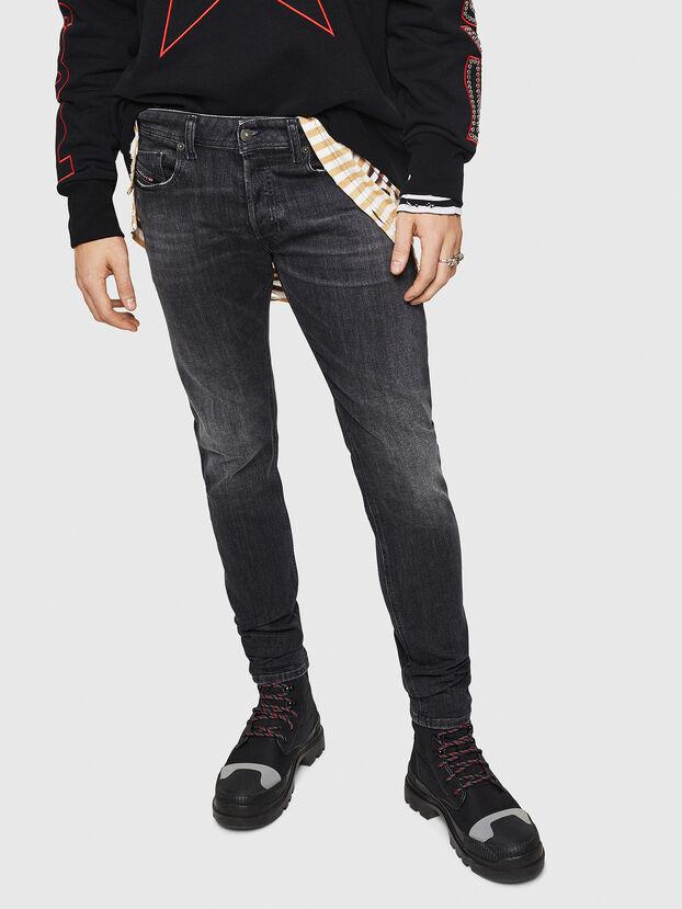 Sleenker 084AT, Black/Dark grey - Jeans
