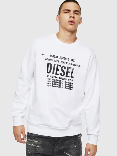 Diesel - S-GIR-B5, White - Sweaters - Image 1