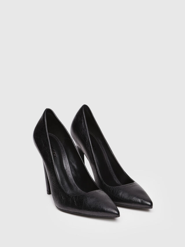 Diesel - D-SLANTY HP, Black Leather - Heels - Image 2
