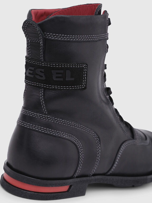 Diesel - D-OGTAG OXB LACE, Black - Boots - Image 5