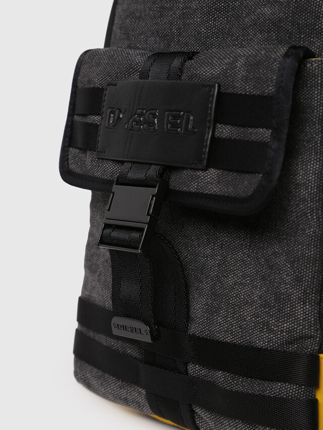 Diesel - M-CAGE MONO, Black/Yellow - Backpacks - Image 4