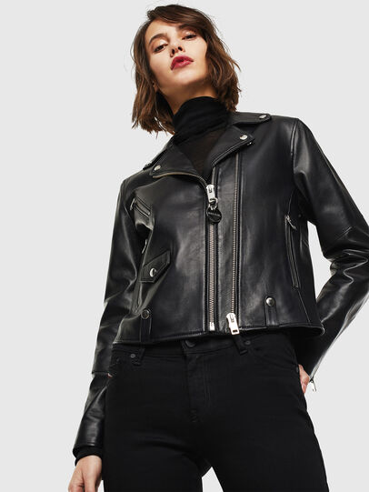 Diesel - L-LYFA, Black - Leather jackets - Image 1