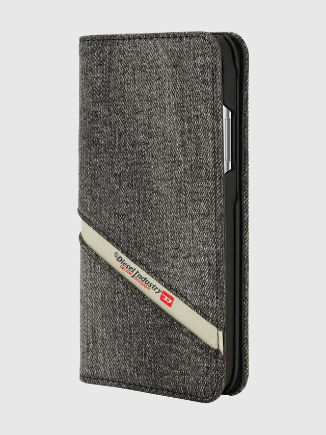 Diesel - DIESEL 2-IN-1 FOLIO CASE FOR IPHONE XS & IPHONE X, Grey - Flip covers - Image 3