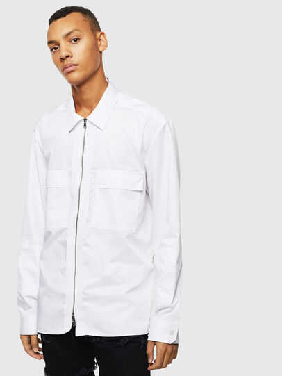 Diesel - S-PATCH-P, White - Shirts - Image 1