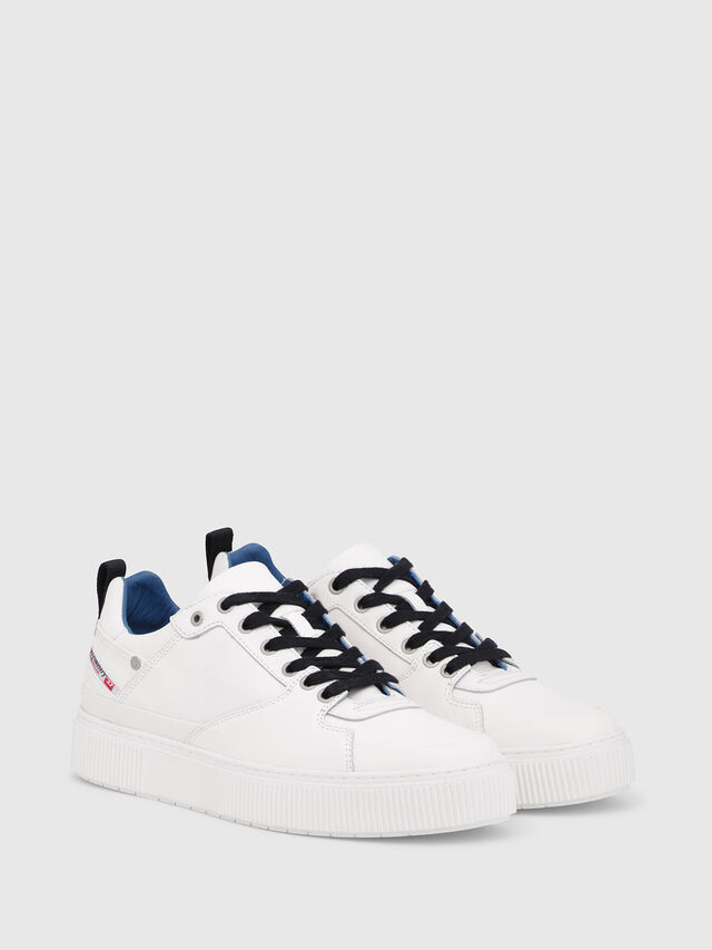 Diesel - S-DANNY LC, White/Blue - Sneakers - Image 2