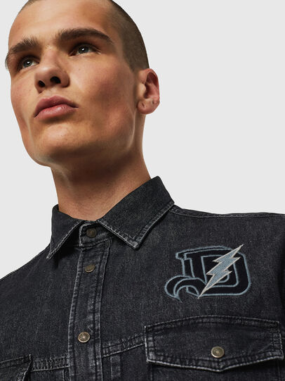 Diesel - D-BANDY-B, Black - Denim Shirts - Image 4