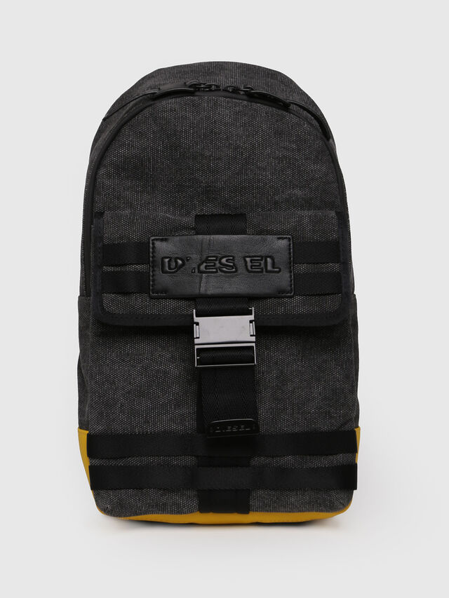 Diesel - M-CAGE MONO, Black/Yellow - Backpacks - Image 1
