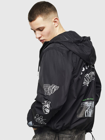 Diesel - J-HEAD, Black - Jackets - Image 3