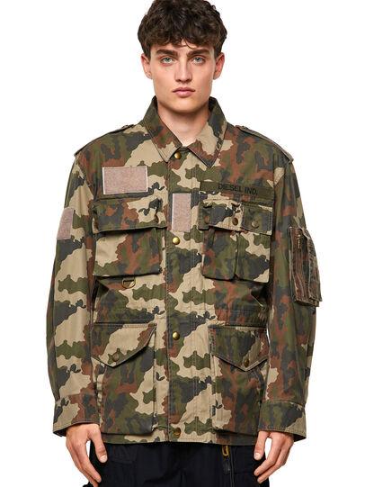 Diesel - J-LOYD-CMF, Military Green - Jackets - Image 1