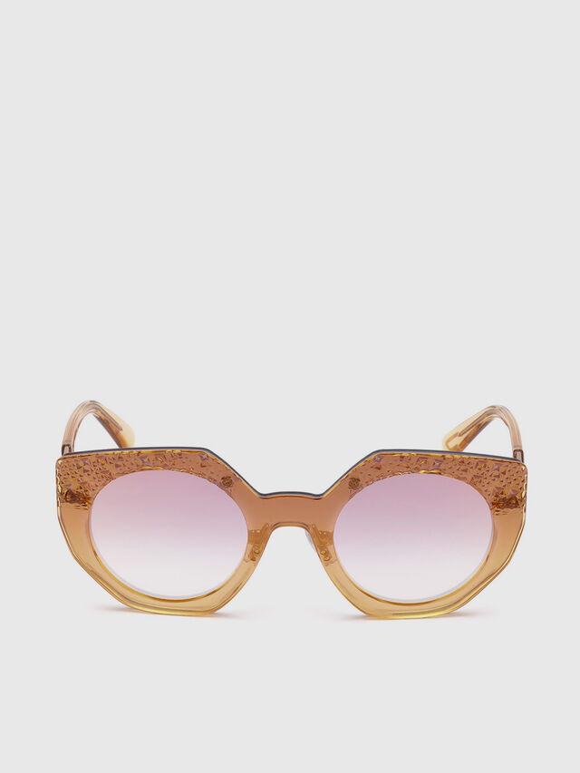 Diesel - DL0258, Pink - Sunglasses - Image 1
