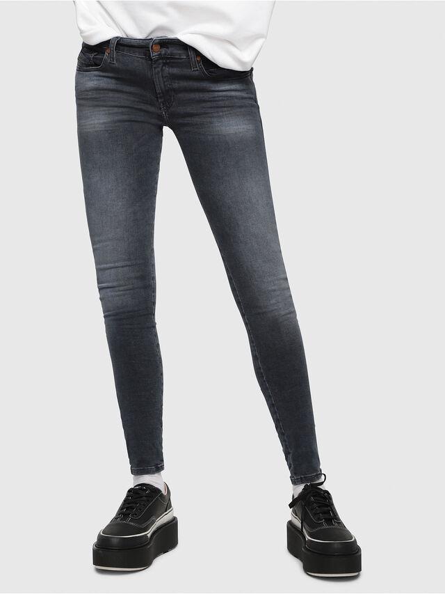 2b300515 SLANDY-LOW 069BT Women: Super skinny Dark blue Jeans   Diesel