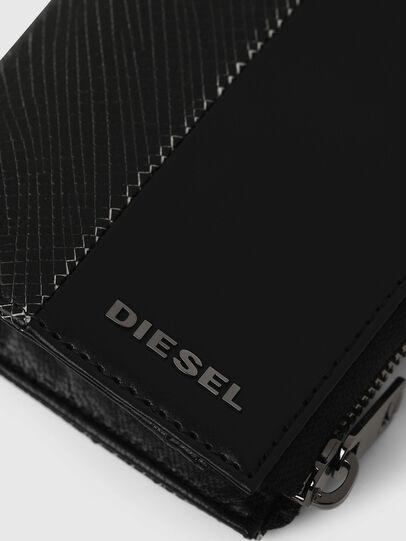 Diesel - L-12 ZIP, Black/White - Zip-Round Wallets - Image 4