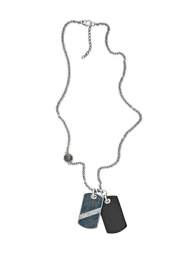 Diesel NECKLACE DX1031, Blue Jeans - Necklaces - Image 1