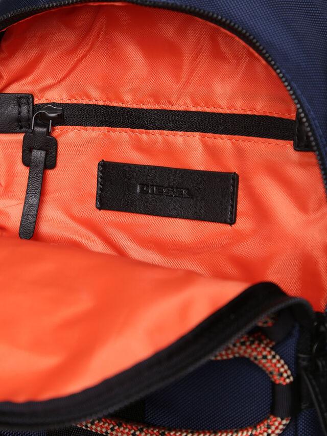 Diesel - M-CAGE MONO, Blue/Orange - Backpacks - Image 3