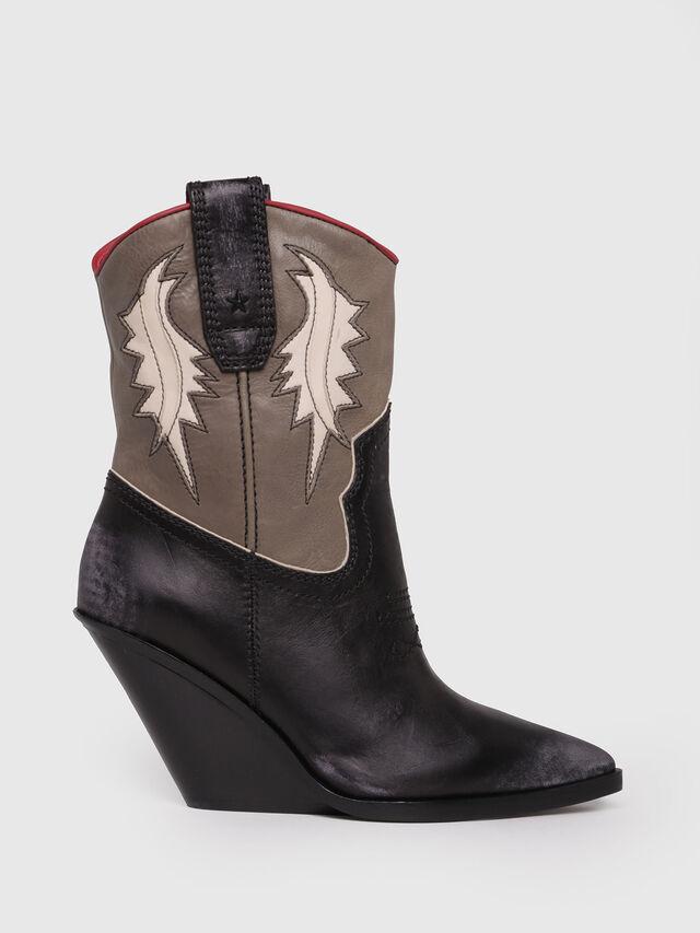 Diesel - D-WEST B, Black/Brown - Ankle Boots - Image 1