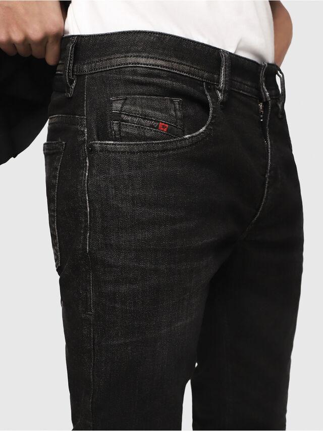 Diesel - Thommer JoggJeans 0077U, Black/Dark grey - Jeans - Image 3